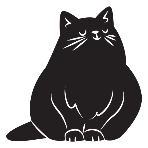Simple cat silhouette Transparent PNG