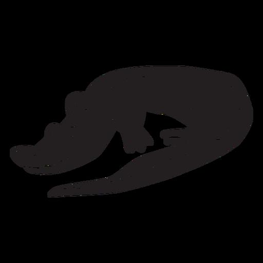 Simple crocodile silhouette