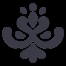 Simple floral ornament silhouette black