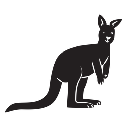 Simple kangaroo silhouette