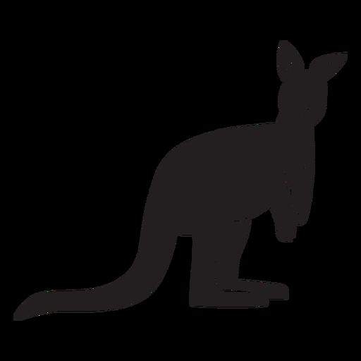 Simple kangaroo silhouette Transparent PNG