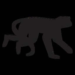 Silhueta simples macaco