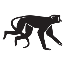 Simple monkey silhouette