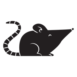 Silueta simple del ratón
