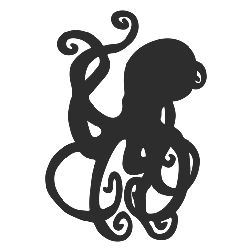 Simple octopus silhouette Transparent PNG