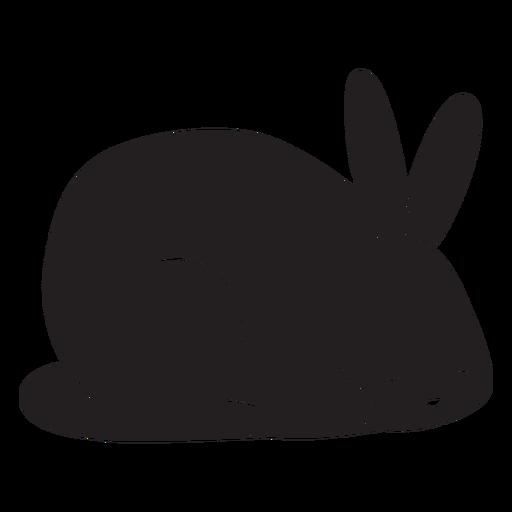 Silueta de conejo simple para dormir