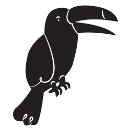 Simple toucan silhouette