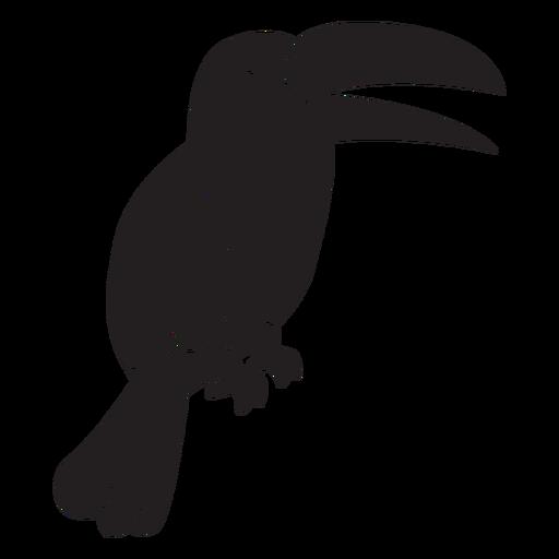 Silhueta simples de tucano