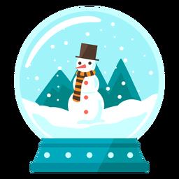 Globo de neve com cena de boneco de neve