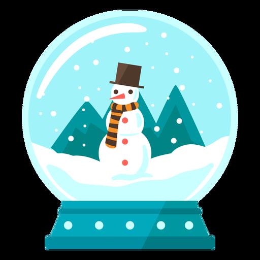 Globo de nieve de escena de muñeco de nieve