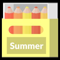 Summer tones color pencils