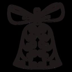 Swirl ornaments christmas bell stroke