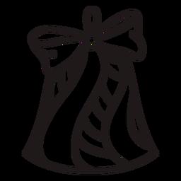 Remolino a rayas de campana de navidad