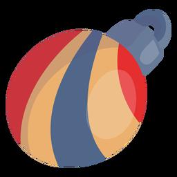Swirl stripes christmas ball
