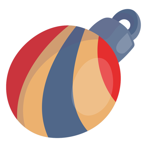 Swirl stripes christmas ball Transparent PNG