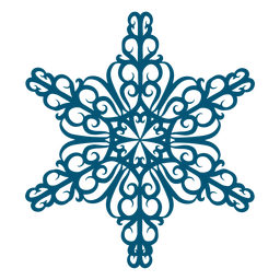Elemento de floco de neve swirly