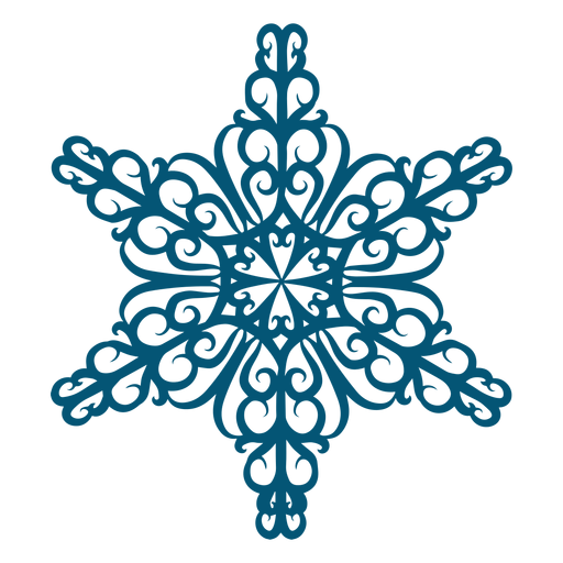 Elemento de copo de nieve de Swirly