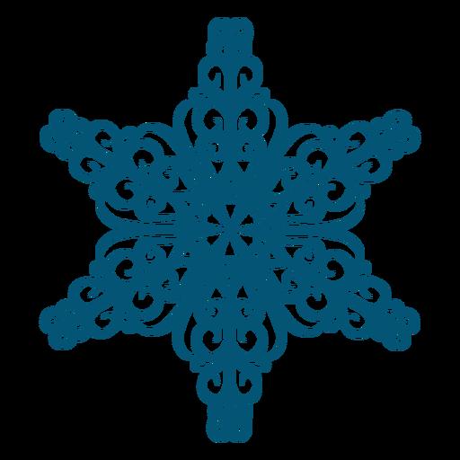 Swirly snowflake element