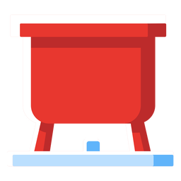 Swiss cheese fondue pot icon