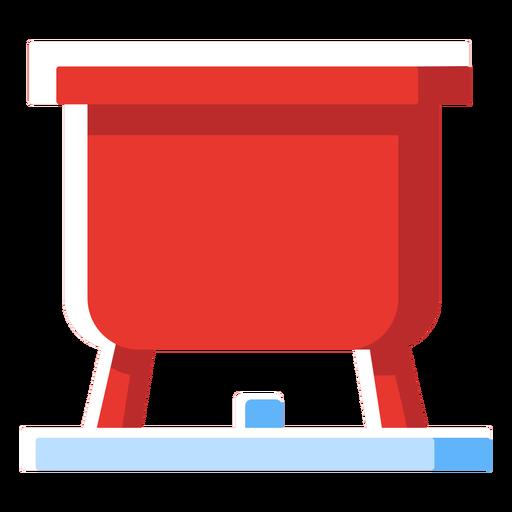 Icono de olla de fondue de queso suizo Transparent PNG