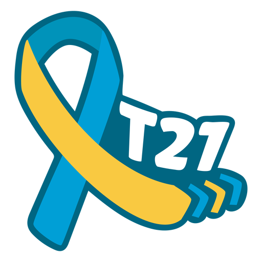T21 down syndrome support ribbon Transparent PNG