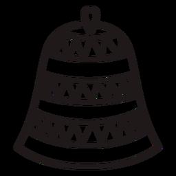 Triangle stripes christmas bell stroke