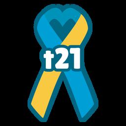Trisomy 21 support ribbon