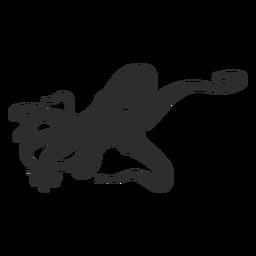 Wild octopus silhouette