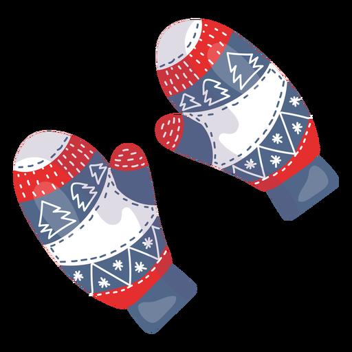 Elemento de guantes de invierno Transparent PNG