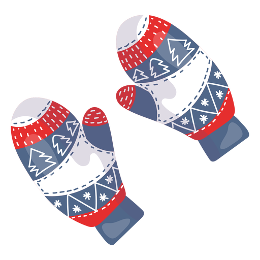 Winter gloves element Transparent PNG