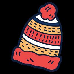 Desenho de chapéu de inverno