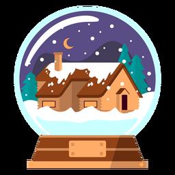 Globo de neve de casa de inverno