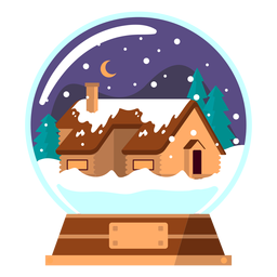 Winter house snow globe