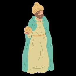 Personaje de natividad de sabio