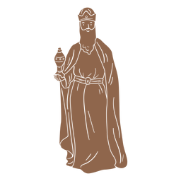 Wise men character silhouette