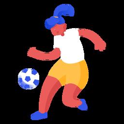 Ilustração de jogador de futebol de mulher