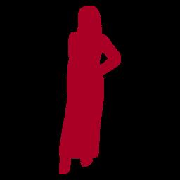 Mano de mujer en silueta de cadera