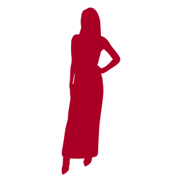 Woman hand on hip silhouette