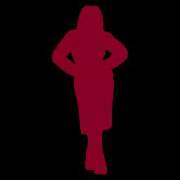 Manos de mujer en silueta de caderas