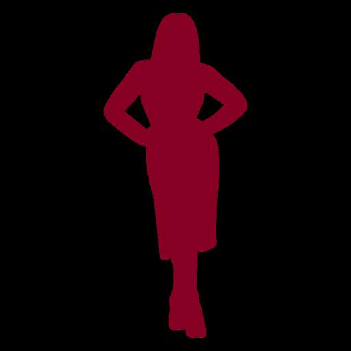 Manos de mujer en silueta de caderas Transparent PNG