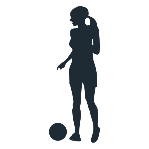 Woman looking for pass silhouette