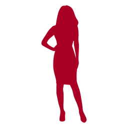 Woman one hand on hip silhouette