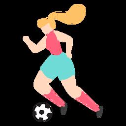 Jugadora goteando con pelota