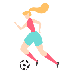 Woman player dribbling with ball