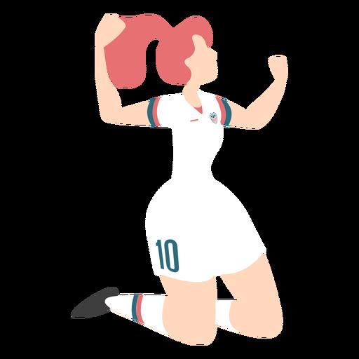 Celebración de gol de jugador de mujer