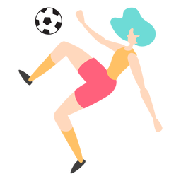 Woman player scissor kick