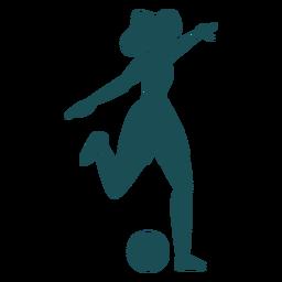 Silhueta de jogador mulher jogando bola