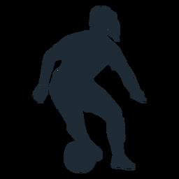 Silueta de movimiento de habilidad de jugador de mujer