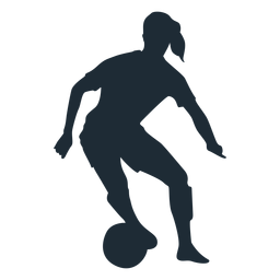 Woman player skill move silhouette