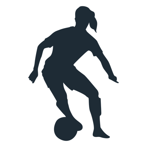 Woman player skill move silhouette Transparent PNG